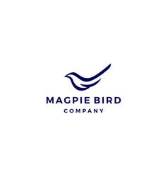 magpie bird logo icon vector image