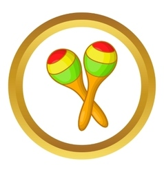 Maracas icon vector