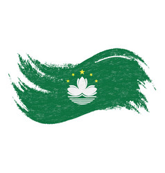National flag of macau designed using brush vector