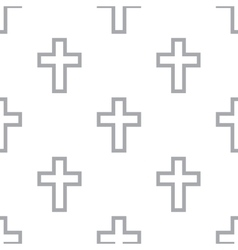 New Protestant Cross seamless pattern vector image