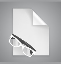 paper symbol glasses vector image