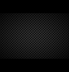 Perforated black metallic background abstract vector