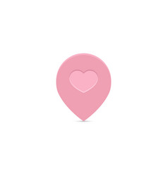 pink love locator icon design navigation pin icon vector image