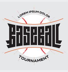 poster for baseball championship print for t-shirt vector image