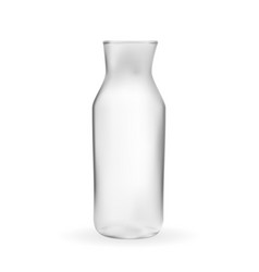 realistic 3d model of glass bottle vector image