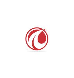 round curve arrow abstract logo vector image