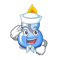 Sailor alcohol burner character cartoon vector