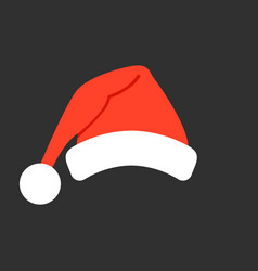 santa claus red hat isolated santa christmas hat vector image