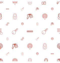 secret icons pattern seamless white background vector image