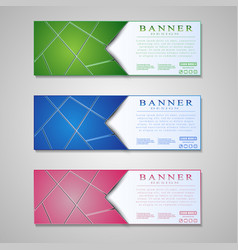 set of colored info graphic banners with different vector image