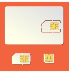 Sim card empty set Cell phone chip vector