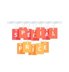 Special Price Badge Design Flat vector