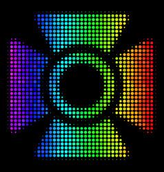 Spectrum dot searchlight icon vector