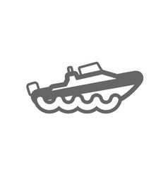 speed boat outline icon summer vacation vector image