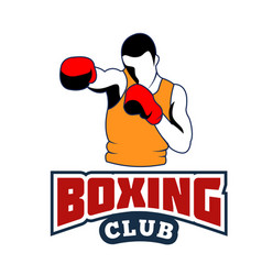 sport boxing club human boxing white background ve vector image