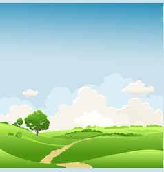 spring landscape with tree vector image
