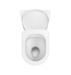 super clean ceramic toilet bowl seen from top view vector image