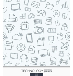Technology wallpaper Black and white digital vector