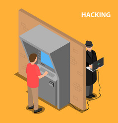 The thief hacks the software and the payment vector