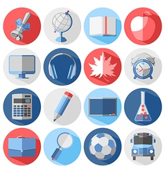 Back to school icon vector image