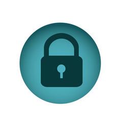 blue emblem lock icon vector image