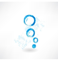 bubbles grunge icon vector image