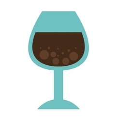 cup drink wine icon vector image