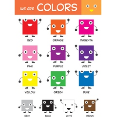 Kids Basic Colors Chart vector image vector image