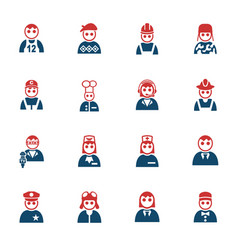 occupation icon set vector image