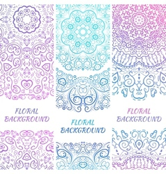Tribal ethnic vintage banners for your cute vector image vector image