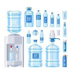 water bottle water drink liquid aqua vector image vector image