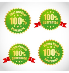 Best product guarantee label stickers vector image