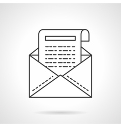 Business correspondence icon flat line icon vector image vector image