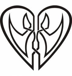 celtic heart tribal tattoo vector image vector image