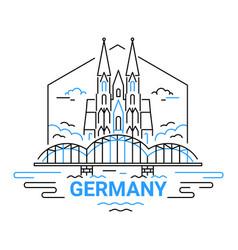 Germany - modern line travel vector