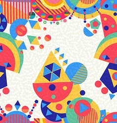 Seamless pattern colorful modern abstract geometry vector image vector image