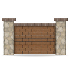 stone fence vector image vector image