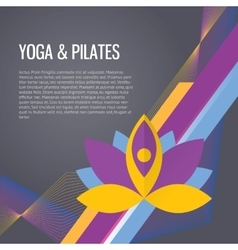 Yoga sport gym background vector image