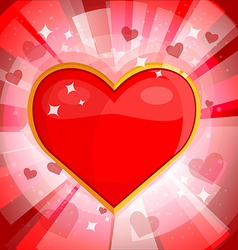 Bright background with heart 2 vector image vector image