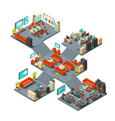 corporate professional 3d office isometric vector image vector image