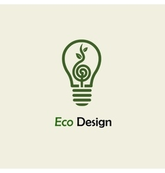 Eco Energy Symbolic sprout plant spiral and vector image