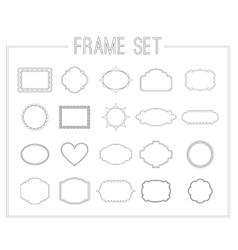 frame set with laurelsribbons and crowns vector image