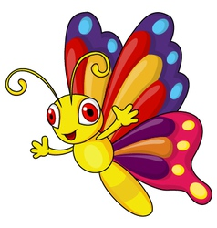 Funny butterfly cartoon vector image vector image
