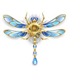 Mechanical Dragonfly on a White Background vector image vector image