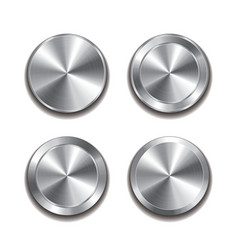 metal button isolated set vector image vector image