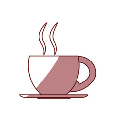 Mug hot drink vector
