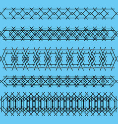ornaments of black iron handrails and fences on a vector image