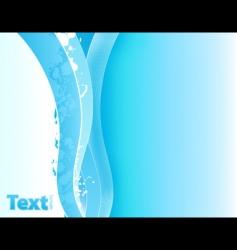 splatter lined art waves vector image vector image