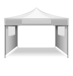White empty folding tent marquee template vector image vector image