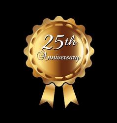 25th Anniversary ribbon vector image